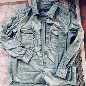 Green button down jacket / shirt
